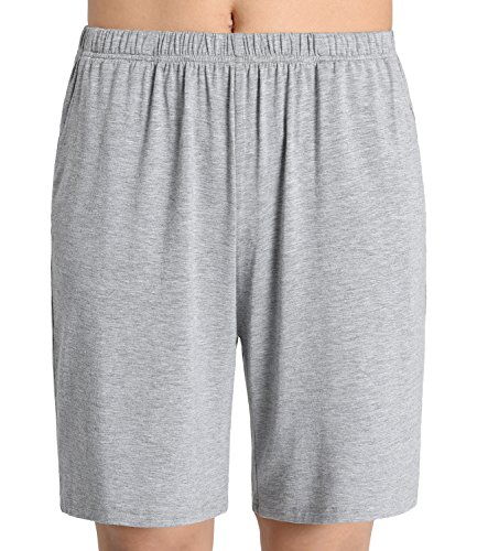 Latuza Women's Soft Sleep Pajama Shorts L Light Gray (Sleep Pj)