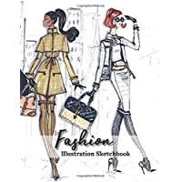 Fashion Illustration Sketchbook: Female Figure Designer Templates To Create Your Own Dress Design Sketches Pictures, Fashion Croquis Sketchpad, Women Model Sketching Idea Portfolio