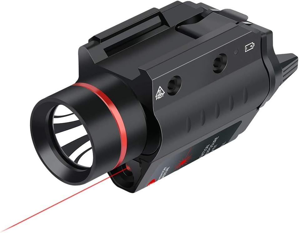Feyachi LF-38 Red Laser Flashlight Combo 200 Lumen Weapon Light with Picatinny Rail Mount