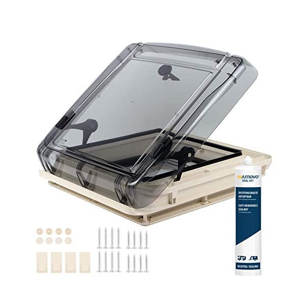 51k9gtI7XCL Dachfenster Remis Remitop Vista 40 x 40 cm Klar + Dekalin Dichmittel für Wohnwagen oder Wohnmobil