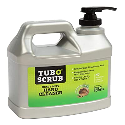 Tub O Towels Tub O Scrub TS28 Heavy Duty Pumice-Free Hand Cleaner, Removes Tough Grime & Dirt Without Water, Biodegradable, 128oz (1 Gallon) Jug: Industrial & Scientific