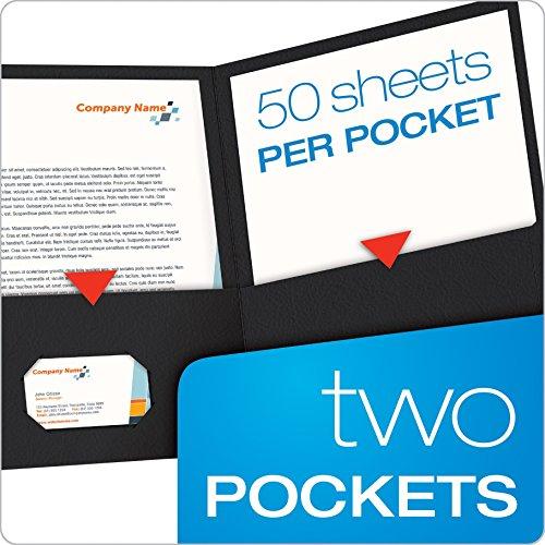 Oxford Twin Pocket Folders, Letter Size, Black, 25 per Box (57506EE)