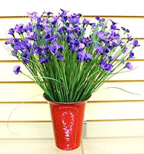 Artificial Purple Pansy Pansies Realistic Outdoor Indoor Vibrant Flower Centerpiece Sold in Sets of 12 1247