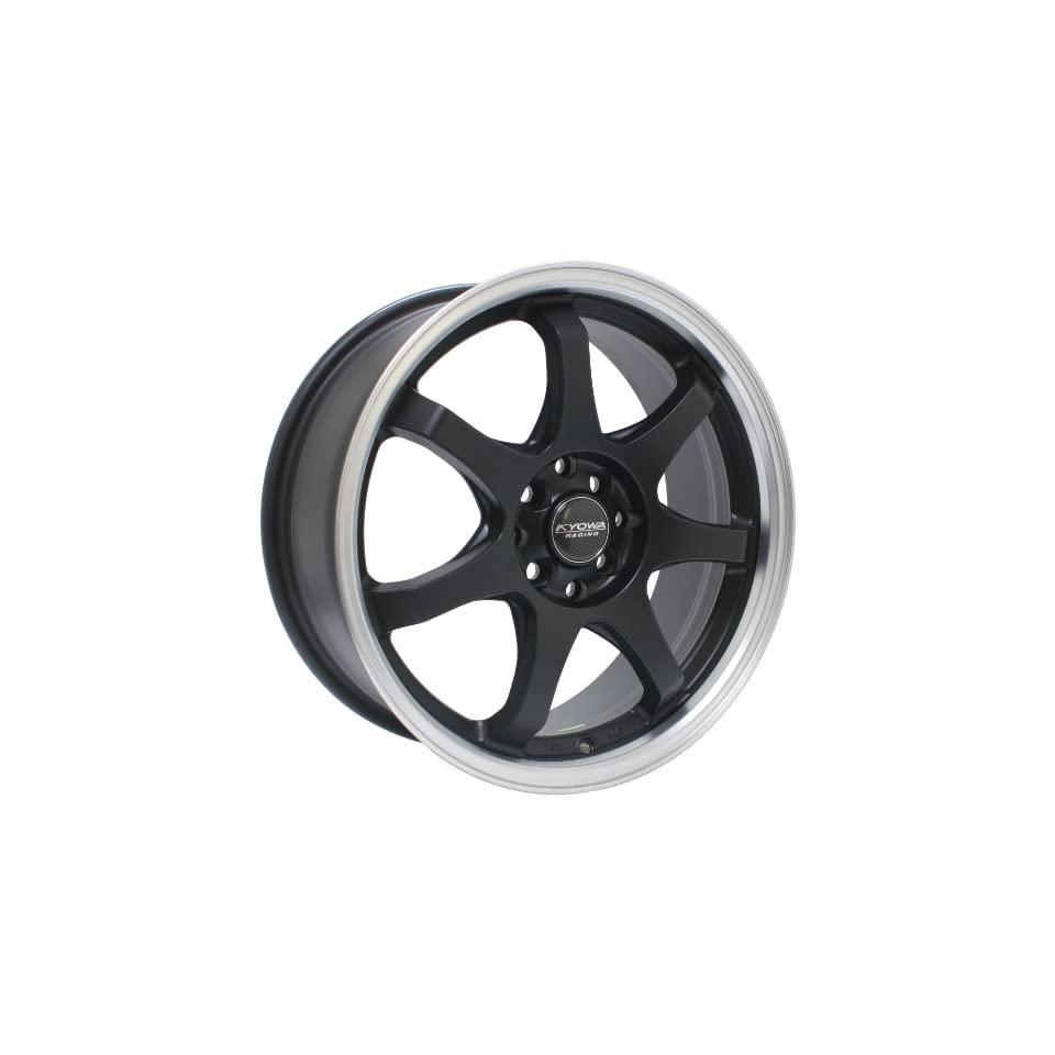 Kyowa Racing Series 627 Matte Black   18 x 7.5 Inch Wheel