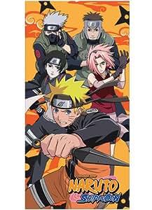 Naruto Shippuden Naruto equipo Kakashi Sakura Sai Yamato toallas