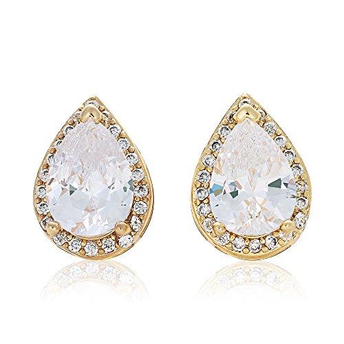 gold-cubic-zirconia-waterdrop-shaped-stud-earrings