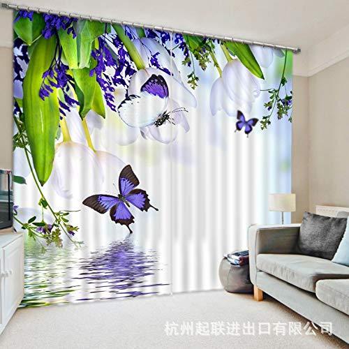 Qcl3d Vorhänge Vorhang Vorhang Vorhang Gardinen Verdunkelungsvorhänge_3D HD Digitaldruck Schatten Tuch Schlafzimmer Wohnzimmer Büro, Breite 3.2X hoch 2.7 B07LF714X5 Vorhnge 131c79