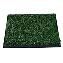 PawHut Dog Toilet Pet Mat Tray 2 Layers Indoor Puppy Potty Trainer Artificial Grass