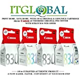 CANON PG 830 Black & CL 831 Color - 2 Each [Set of 4 Cartridge] -Special ITGLOBAL Combo With Scratch & Win Reward Offer - From ITGLOBAL