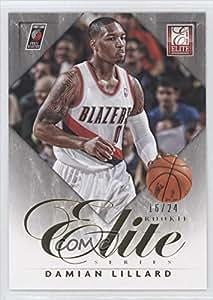 Damian Lillard #16/24 (Basketball Card) 2012-13 Elite Elite Series Rookie Inserts Gold #16