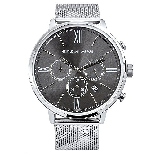 V1-CLASS CHRONOGRAPH CASE GRAY DIAL WITH STEEL BAND
