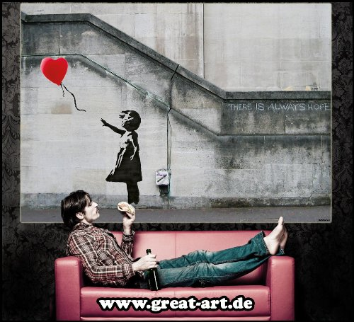 Banksy Poster Ballon Girl There Is Always Hope - XXL 66,9 ...