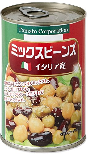 Tomato Corporation Mix Beans (Italy production) EO can 400gX24 pieces by TOMATO