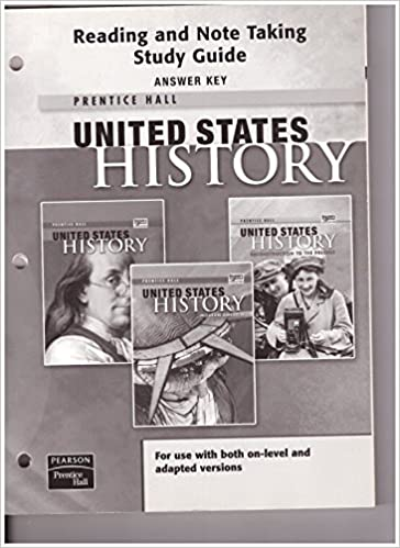 United States History Reading and Note Taking Study Guide Answer Key