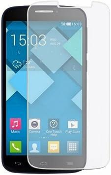 Funnytech_ - Cristal templado para Alcatel One Touch POP C7. Protector de pantalla transparente para Alcatel One Touch POP C7. Vidrio templado antigolpes (Grosor 0,3mm) – Kit de instalación incluido: Amazon.es: Electrónica