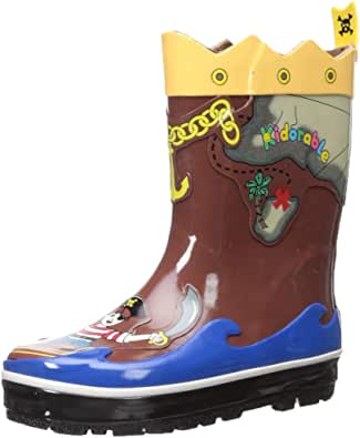 Kidorable Boys' Pirate Rain Boots