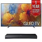 Samsung QN65Q9 65-Inch 4K Ultra HD Smart QLED TV (2017 Model) w/ Samsung 4K Ultra HD Blu-ray Player & 1 Year Extended Warranty