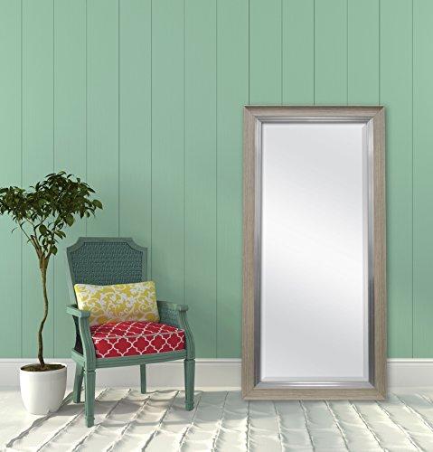 MCS-White-Woodgrain-and-Silver-Beveled-Leaner-Mirror-66901