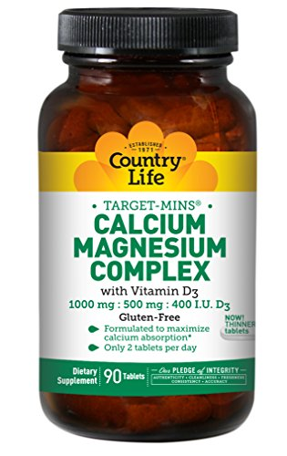 Country Life - Target-Mins Calcium Magnesium Complex with Vitamin D3-90 (Magnesium Complex 90 Tablets)