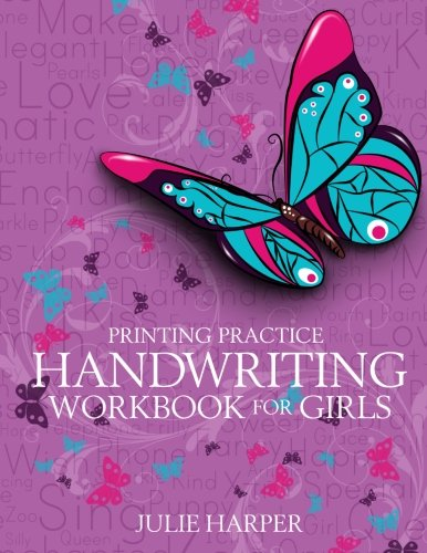 - Printing Practice Handwriting Workbook for Girls