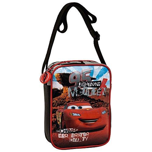 Disney Cars Borsa Messenger, Poliestere, Rosso, 20 cm