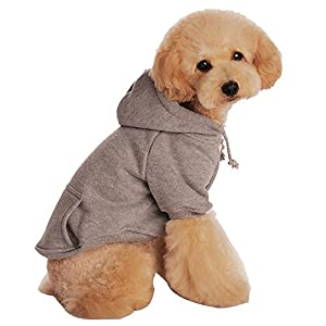 Outtop Pet Costume, Small Dogs dog Sweatshirt Hoodie Coat Shirt Clothes Apparel Accessory for Dog Dachshund, Poodle, Pug, Chihuahua, Shih Tzu, Yorkshire Terriers, Papillon (M, Gray)
