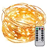 LED String Lights USB Powered 33ft 100LEDs with Remote Control,Waterproof Decorative Lights for Bedroom,Patio,Parties,UL588 and CE Approved