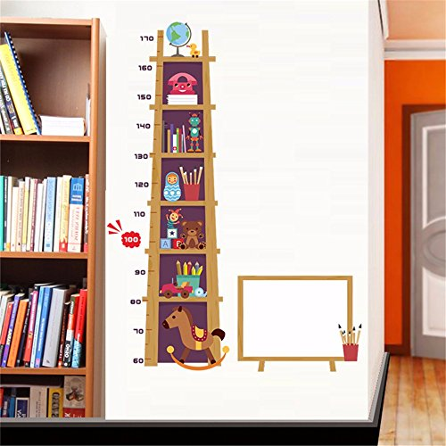 Ghaif Children's rooms are decorated with lovely animal shelf posters wall surface self adhesive baby bedroom measurement height sticker removable 6090CM by Ghaif