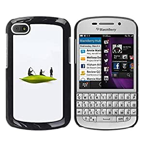 Paccase / SLIM PC / Aliminium Casa Carcasa Funda Case Cover para - Boat River White Men Minimalist - BlackBerry Q10
