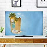 PRUNUS Cover for Wall Mount tv Opened Door to The Tropical Paradise Travel Background Cover Mount tv W19 x H30 INCH/TV 32''