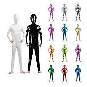 - 51k9lUvR4ZL - Sheface Kids Shiny Metallic Wet Look Body Suit