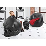 Design Toscano NE17020562 Lost Souls Gothic Skull culptural Chair, Black