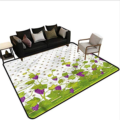 Vineyard,Office Chair Floor Mat Foot Pad 48