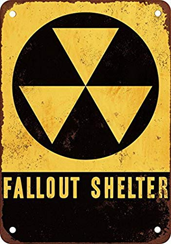 MarinaPolly Fallout Shelter Vintage Look Reproduction Pub Home Decor Metal Signs 8X12 Inches ()