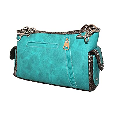 9c6d9b4788ec Concealed Carry Rhinestone Skull Embroidered Soft PU Leather Women's ...
