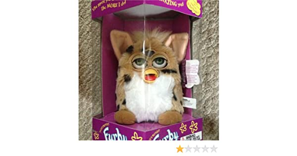 Furby - Brown with Black Stripes with White Belly & Brown Feet & White Ears