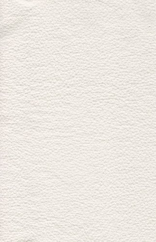 White Champion Vinyl Upholstery Faux Leather Fabric Per Yard