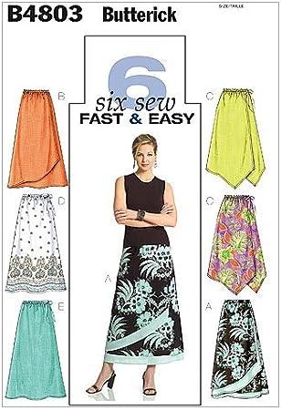 Butterick 4803 FF - Patrones de costura para confeccionar falda de ...