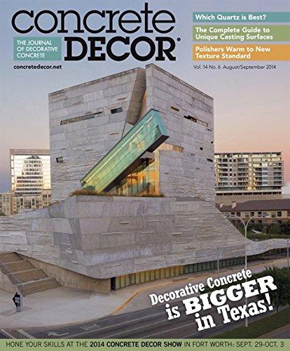 More Details about Concrete Decor Magazine