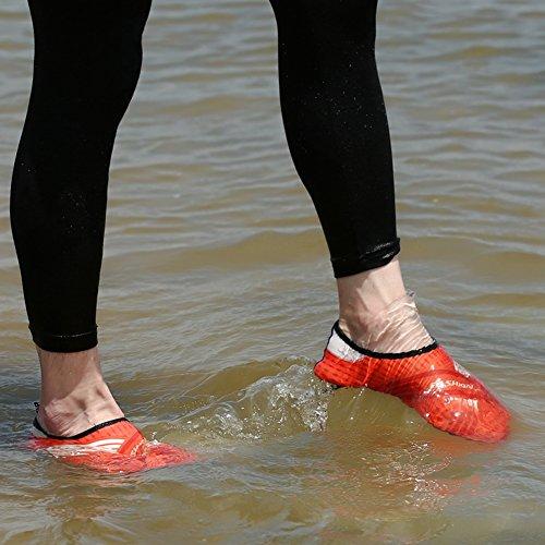 Adulti Bambini Quick-dry Pelle Sport Acquatici Aqua Scarpe Calze Foroy Ventilazione Kpu Suola 8orange