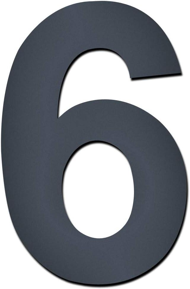 MOCAVI HS50 Hausnummer selbstklebend in anthrazit-grau H/öhe ca.12 cm Hausnummer:0