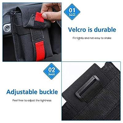 RT-TCZ Passenger Grab Handles Storage Organizer,2 in 1 Pocket Multi-Purpose Storage Bag for Phone,Sunglasses,Tools.Waterproof Interior Accessories for TJ JK JL: Automotive