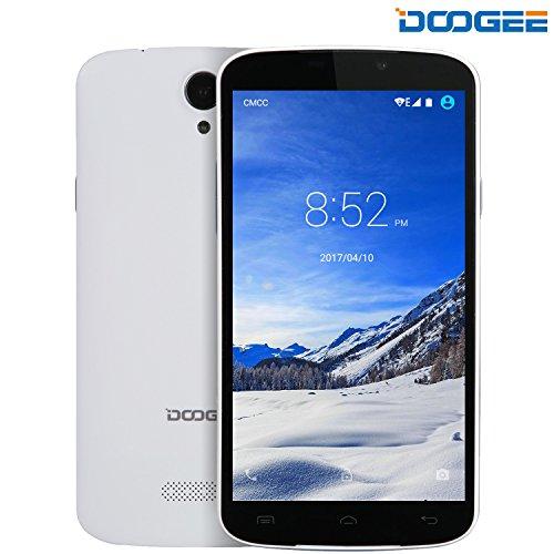 Moviles Libres Baratos, DOOGEE X6S Dual SIM Movil Baratos, 4G Android 6.0 Telefonos, 5.5 Pulgadas HD IPS Display, MT6735Quad Core Smartphone, 1GB RAM + 8GB ROM, Batería Grande 3000mAh, Blanco