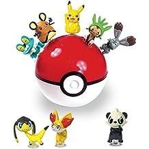 Pokemon Suction Figure Monster Ball & Coin Bank (Random) : 3 Mini Figure Toys 1 Set
