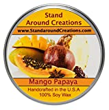 Premium 100% All Natural Soy Tureen Candle - 8 oz. -Mango And Papaya: An uplifting blend of sun-kissed mango and papaya. A very popular fragrance you're sure to love.