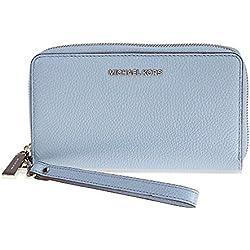 MICHAEL Michael Kors KORS STUDIO Large Flat Phone Case Wristlet Pale Blue