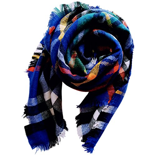 Price comparison product image Jastore Kids Girls Boys Stylish Grid Warm Blanket Scarf Gorgeous Wrap Shawl (Color 4)