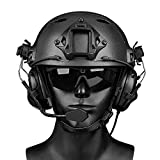 Tactical Headset, Electronic Shooting Earmuff Aviation Headset, Ear Protection Noise Reduction Sound Amplification