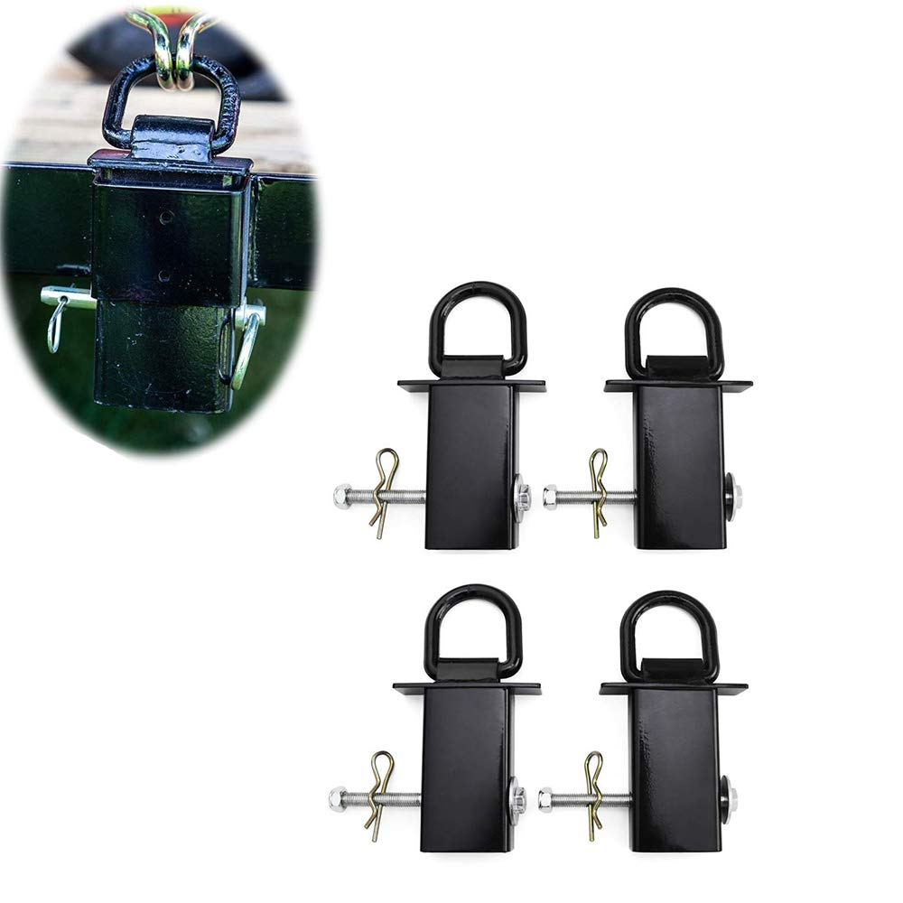 Lonwin 4Pcs Heavy Duty Removable D-Ring Stake Pocket for Utility Trailers and Flatbeds with Hitch Pin Black by Lonwin