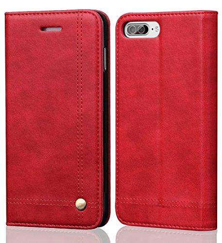 iPhone 8 Plus Case iphone 7 Plus Case, SINIANL Leather Wallet Case Magnetic Closure With Kikstand & Card Slot Flip Cover